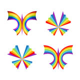 Rainbow butterfly concepts Stock Image