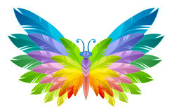 Rainbow butterfly Stock Image