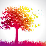 Rainbow butterfly tree Royalty Free Stock Photography