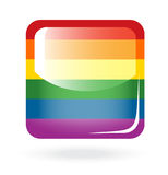 Rainbow button Stock Photo