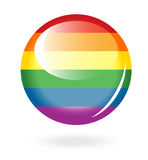 Rainbow button Stock Images