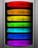 Rainbow button Royalty Free Stock Images