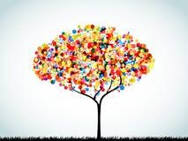 Rainbow Button Background Tree Stock Photo