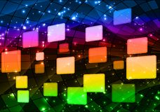 Rainbow buttons. Rainbow button  with place for text Royalty Free Stock Image