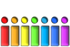 Rainbow Buttons royalty free stock images