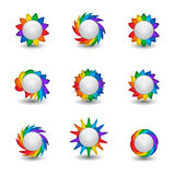 Rainbow buttons Stock Photo