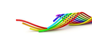 Rainbow Cable Stock Image