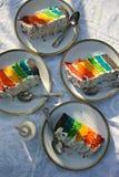 Rainbow Cake Royalty Free Stock Photography