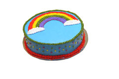 Rainbow Cake. Gay Pride Rainbow Cake royalty free stock photography