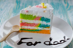 rainbow cake stock image