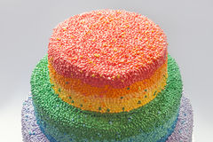Rainbow Cake Royalty Free Stock Photo