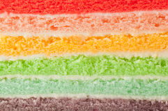 Rainbow cake layers Stock Photos