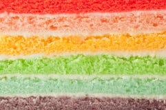 Rainbow cake layers stock photos