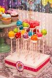 Rainbow cake pops Royalty Free Stock Photo