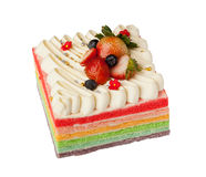 Rainbow cake Royalty Free Stock Photos