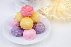 Rainbow cakes Stock Images