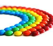 Rainbow Candies Royalty Free Stock Photos