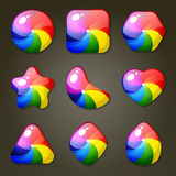 Rainbow Candies For Match Three Game Royalty Free Stock Images