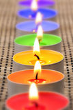 Rainbow candles I Royalty Free Stock Photos