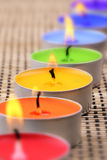 Rainbow candles II Stock Image