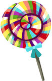 Rainbow candy. Illustration of isolated rainbow candy Royalty Free Stock Photos