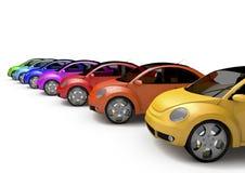 Rainbow Car Stock Photo