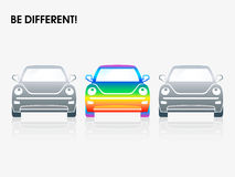 Rainbow car Royalty Free Stock Image
