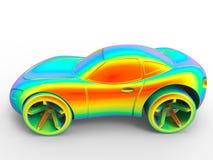 Rainbow car illustration Stock Photos