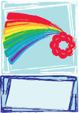 Rainbow card. Illustration of rainbow card with flower royalty free illustration