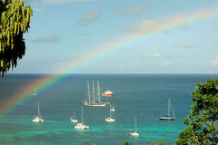 A rainbow in the caribbean Stock Image
