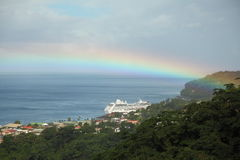 Rainbow in Caribbean Islands Royalty Free Stock Photos