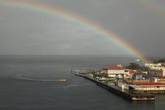 Rainbow in Caribbean Islands Royalty Free Stock Image