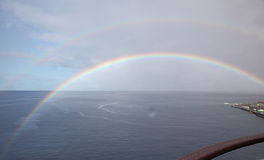 Rainbow in Caribbean Islands Royalty Free Stock Photo