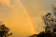 A rainbow in the caribbean Stock Photo