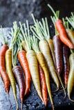 Rainbow carrots Stock Photo