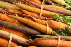Rainbow Carrots Stock Photos