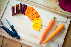 Fresh Carrots in slices Royalty Free Stock Photography