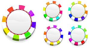 Rainbow casino chips Royalty Free Stock Photos