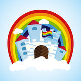 Rainbow castle Royalty Free Stock Image