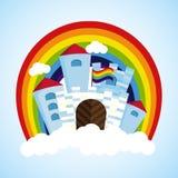 Rainbow castle Royalty Free Stock Image