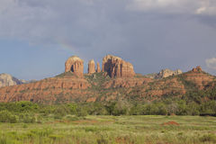 Rainbow at Cathedral Rock Royalty Free Stock Image