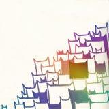 Rainbow cats. Rainbow hand drawn cats on paper Royalty Free Illustration
