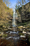 Rainbow caught in Sgwd Henrhyd; henrhyd Waterfall Royalty Free Stock Images