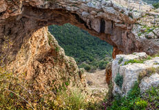 Rainbow cave in Upper Galilee, Israel Royalty Free Stock Photo