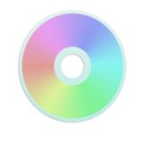 Rainbow cd. Colorful cd isolated over white background Stock Photos