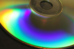 Rainbow in a CD Stock Image