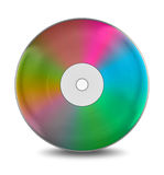 Rainbow cd disc Stock Photo