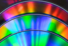 Rainbow cd dvd bluray Royalty Free Stock Photo