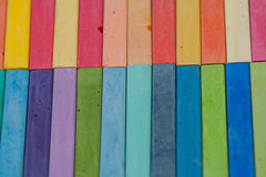 Rainbow Chalk Stock Photography