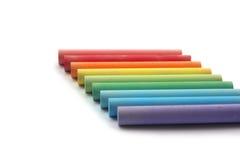 Rainbow of chalks Royalty Free Stock Photo